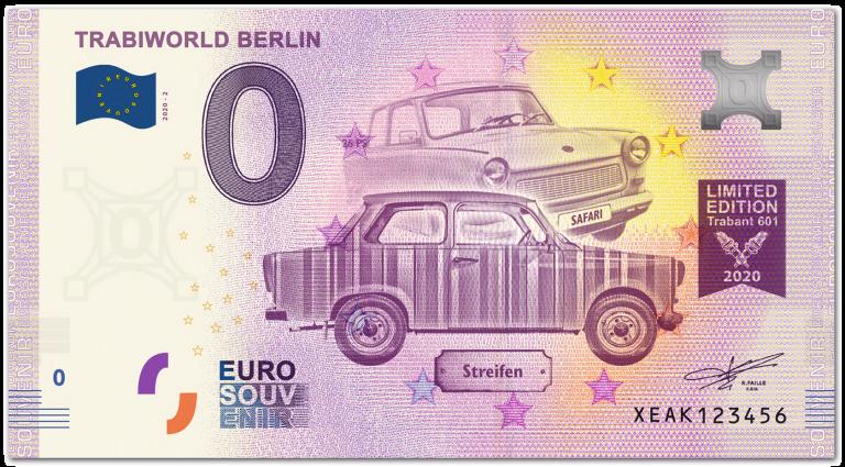 Trabi Null Euro-Scheine
