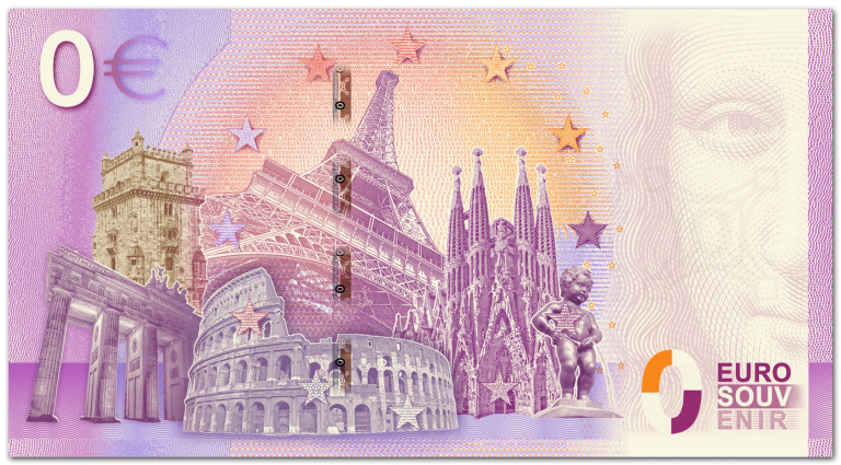 reverse side Trabi zero euro note